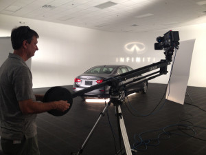snapshot of video production for Infiniti