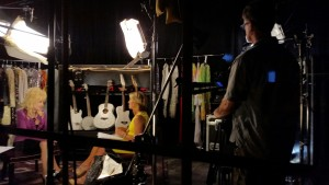 Working with Yahoo for Katie Couric's interview with Dolly Parton.
