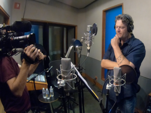 "Behind the scenes with Blake Shelton during the audio session to record the voice of ""Ox"" for the animated feature ""Ugly Dolls""."